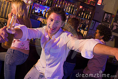 Young man in nightclub