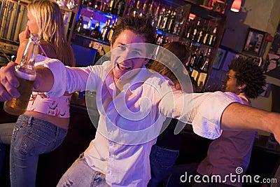 Young man in nightclub