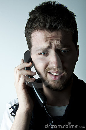 Young man on the phone