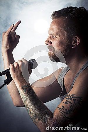 Rock sign in Concert