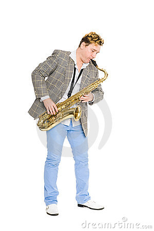 Free Young Man Playing The Sax. Stock Photography - 22716512