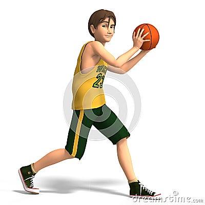 Free Young Man Plays Basketball Stock Image - 8317001