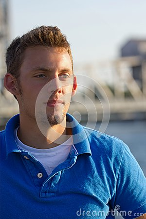 Young Man Portrait along waterway