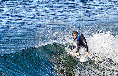 Young Man Practices His Surfing Editorial Image