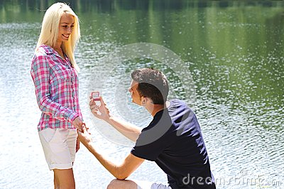 Young man proposal