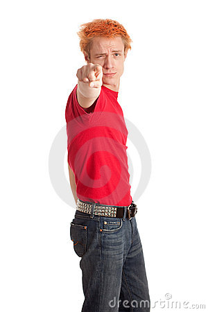 Young Man in Red Shirt