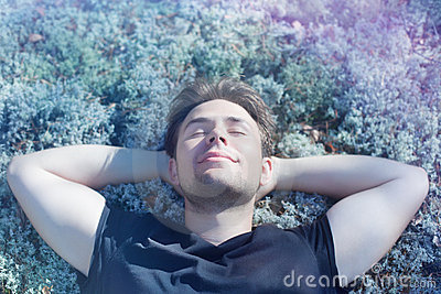 Young man resting