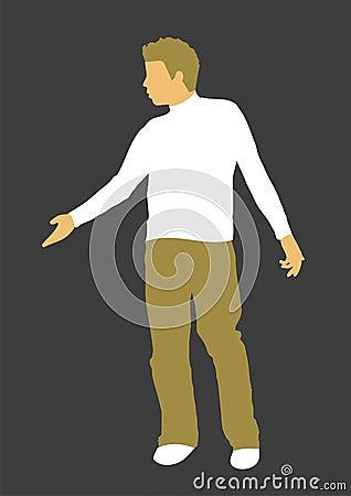 Young Man Retro Illustration