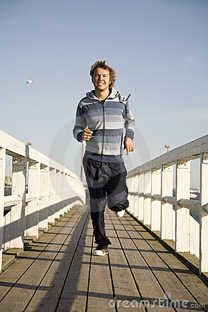 Free Young Man Running Stock Photo - 2607300