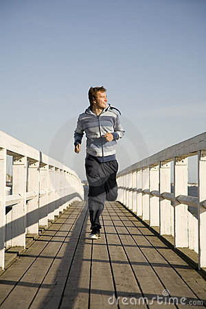 Free Young Man Running Stock Image - 2607311