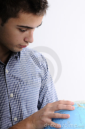 Young man searching