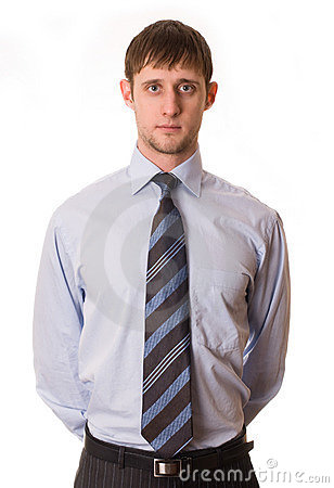 Young man in shirt and tie