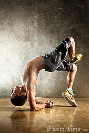Young Man Sports Exercises Stock Photo - Image: 19995780