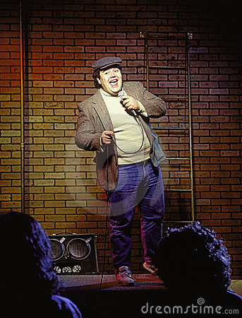 Free Young Man Stand-up Comedian Stock Images - 5926624