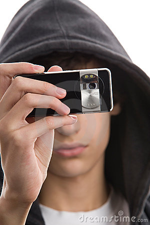 Free Young Man Taking A Picture Royalty Free Stock Images - 11135609