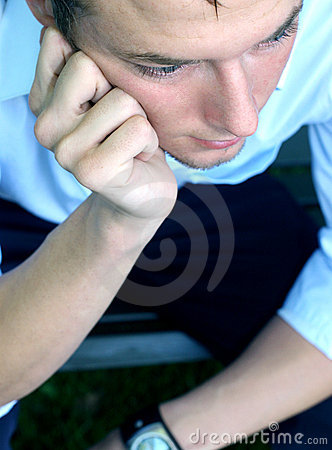 Free Young Man Thinking And Pondering Stock Photo - 141430