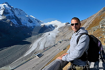 Young man tourist