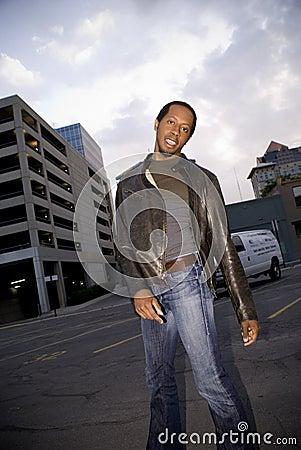 Young Man in Urban Setting