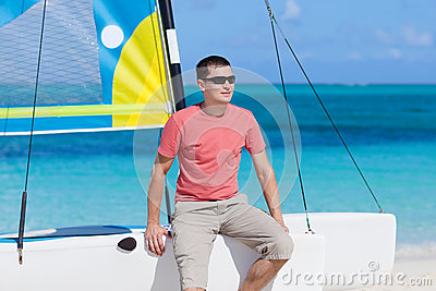Young man on a vacation