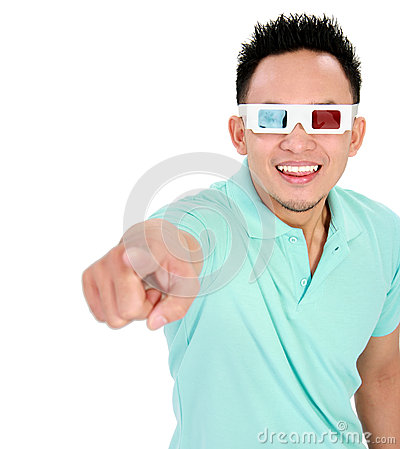 Young Man Wearing 3d-glasses Stock Image - Image: 29060981