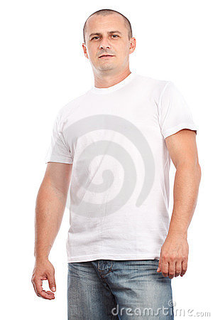 Young man with white t-shirt