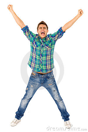 Free Young Man With Arms Raised Stock Photo - 16608660