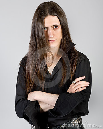 Free Young Man With Long Hair Stock Images - 15815914