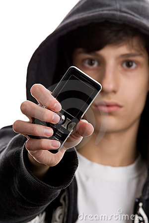 Free Young Man With Mobile Phone Stock Photography - 11135702
