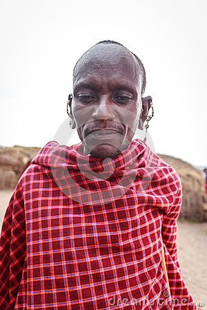 The young Masai let me take his picture without any acting. Editorial Image