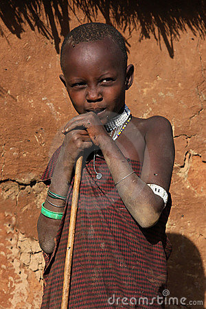 Young Masai sheperd Editorial Image