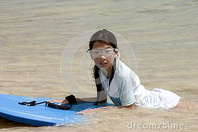 young model in the ocean stock images image 5050674