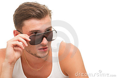 Young model in sunglasses