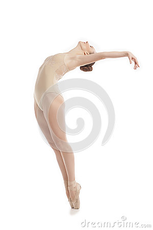 Free Young Modern Ballet Dancer Jumping On White Background Royalty Free Stock Photo - 86241395