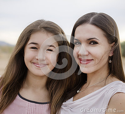 Young mom with daughter