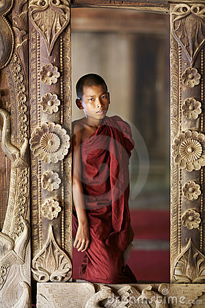 Free Young Monk Myanmar Burma Royalty Free Stock Images - 21618669