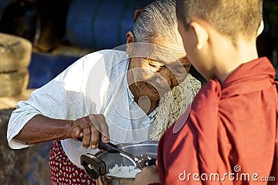Young Monk Myanmar Burma Editorial Stock Image