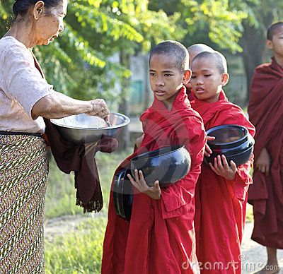 Young Monks Myanmar Burma Editorial Image