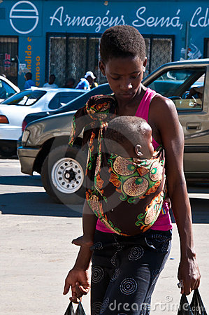 Young mother and child in Africa Editorial Stock Image