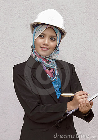 Young muslim architect