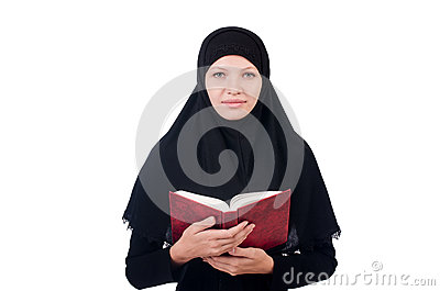 Young muslim female student