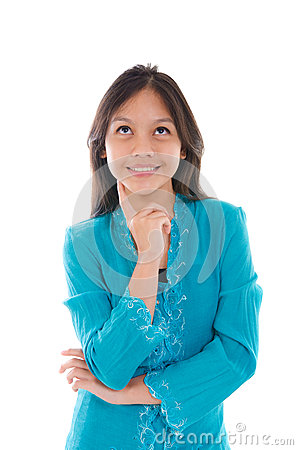 Free Young Muslim Malay Girl Thinking With Traditional Dress Royalty Free Stock Photography - 34025217