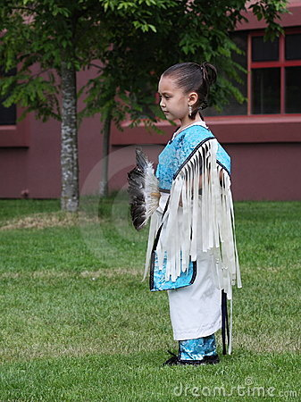 Young Native Dancer Editorial Photography