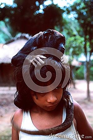 Free Young Native Indian Awa Guaja Of Brazil Stock Photo - 9868390