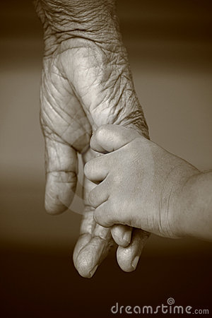Young And Old Hands Royalty Free Stock Photography - Image: 12968357