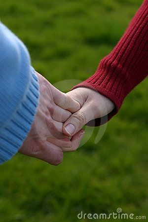 Young and old hands