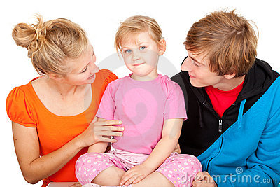 Young parents with beautiful daughter