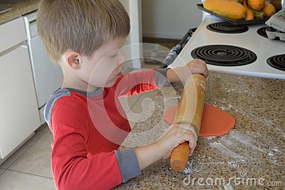 Child Making Cookies