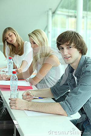 Young people in classroom