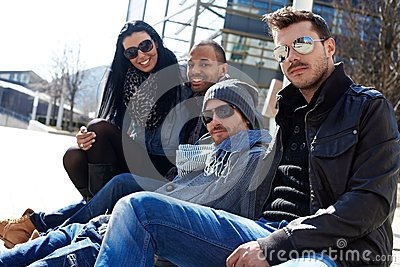 Young people enjoying sunshine