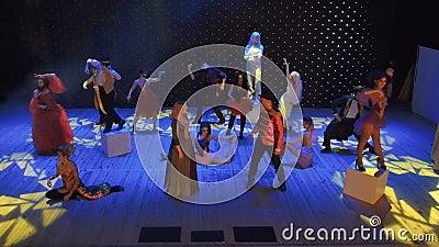 Crazy performance in modern theatre